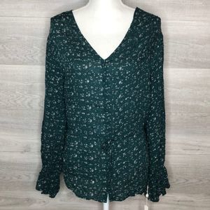 NWT Green Blouse by Caslon size 2X